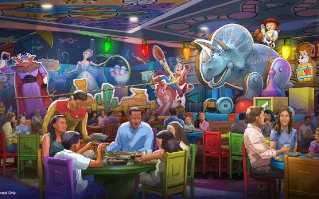 Novo restaurante na Toy Story Land