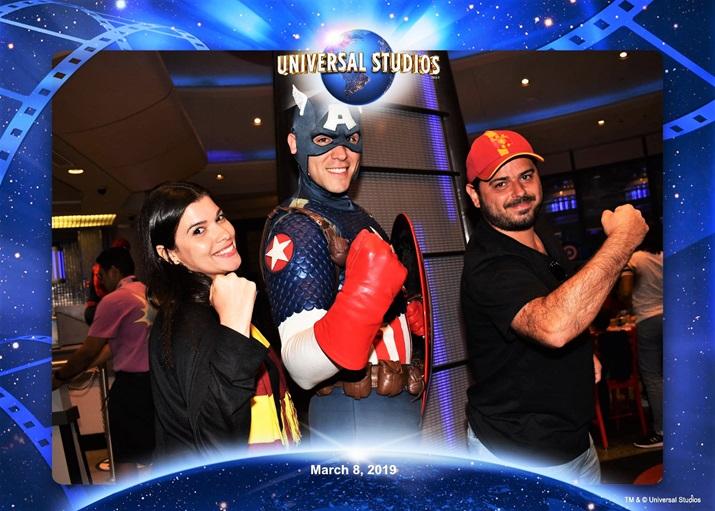 Jantar com os super heróis Capitão America