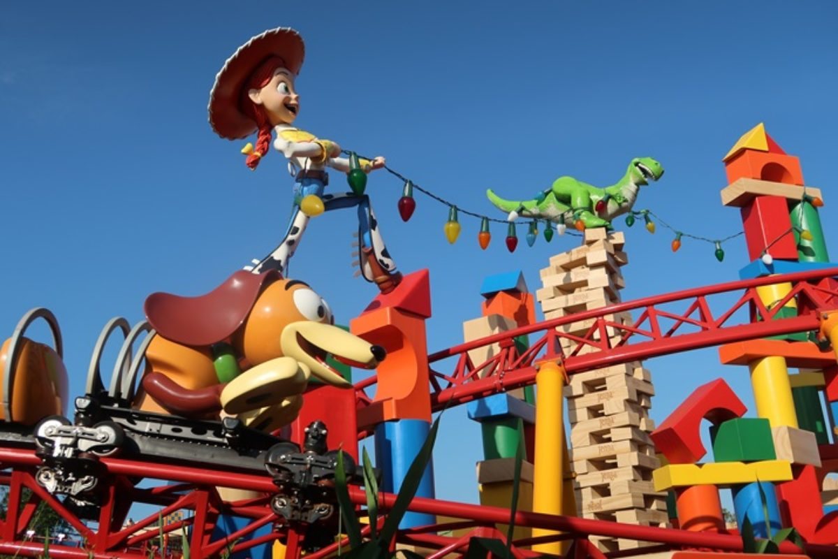 O restaurante na Toy Story Land: Woody's Lunch Box