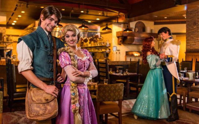 Refeição com Ariel, Rapunzel e seus Príncipes