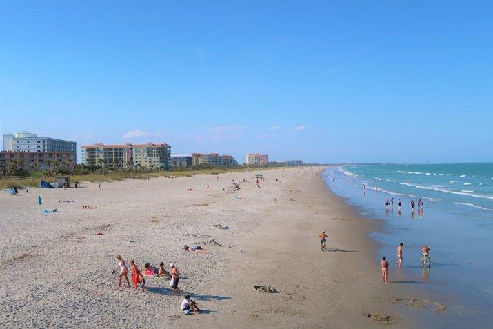 Praia próxima de Orlando