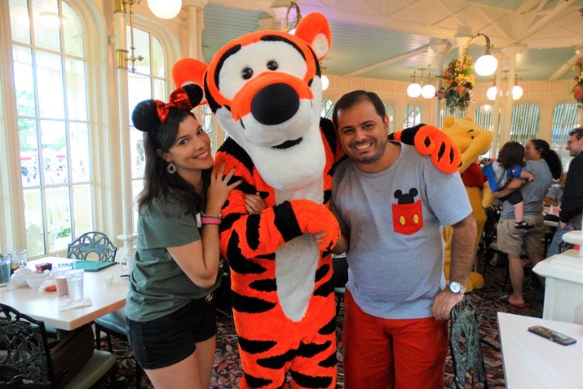 Crystal Palace: refeição com a turma do Pooh na Disney